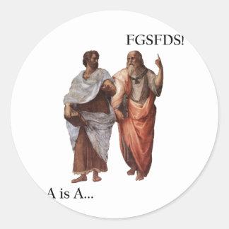 La división A de Philsophical es A contra FGSFDS Pegatina Redonda