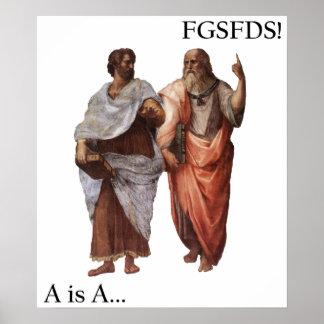La división A de Philsophical es A contra FGSFDS Póster