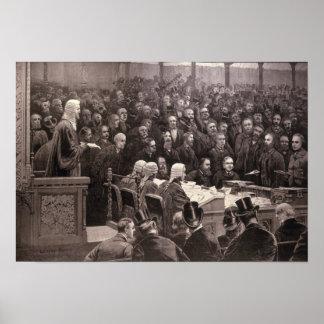 La división en la Cámara de los Comunes Póster
