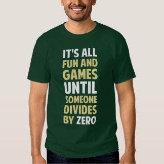 La división por cero no es un juego camisas
