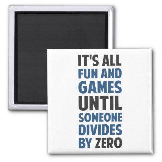 La división por cero no es un juego imán cuadrado