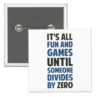 La división por cero no es un juego pins
