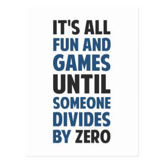 La división por cero no es un juego postales