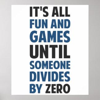 La división por cero no es un juego póster