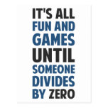 La división por cero no es un juego tarjetas postales