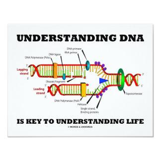 """La DNA de comprensión es dominante a la vida de Invitación 4.25"""" X 5.5"""""""