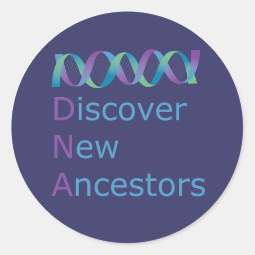 La DNA descubre a los nuevos antepasados 1 Pegatina Redonda