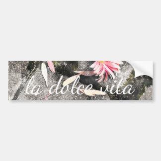 La Dolce Vita and Pink Gerbera Daisy Petals Bumper Stickers