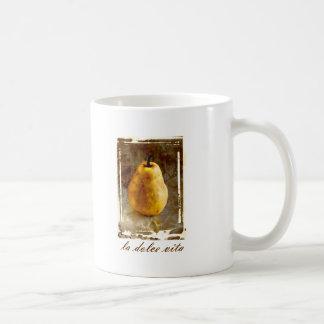 La Dolce Vita Pear Classic White Coffee Mug
