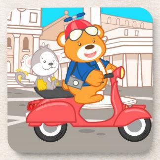 La Dolce Vita Romana - Nano Bear & Junior Monkey Coaster