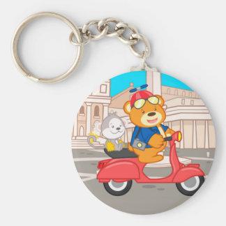 La Dolce Vita Romana - Nano Bear & Junior Monkey Keychain
