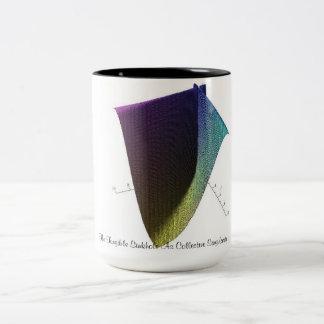 La dolina tangible como singularidad colectiva taza de café de dos colores