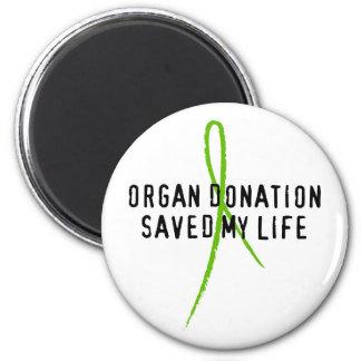 La donación de órganos ahorró mi vida imán redondo 5 cm