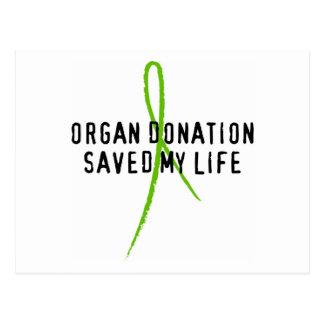 La donación de órganos ahorró mi vida tarjetas postales
