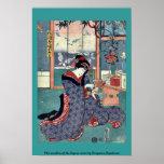 La doncella de la licorería por Utagawa, Toyokuni Posters