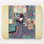 La doncella de la licorería por Utagawa, Toyokuni Tapetes De Ratón