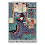 La doncella de la licorería por Utagawa, Toyokuni Felicitaciones