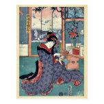 La doncella de la licorería por Utagawa, Toyokuni Tarjetas Postales