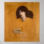 La Donna Della Finestra by Dante G Rossetti, Small Poster