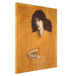 La Donna Della Finestra by Dante Gabriel Rossetti Canvas Print