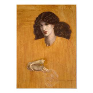 """La Donna Della Finestra de Dante Gabriel Rossetti Invitación 5"""" X 7"""""""