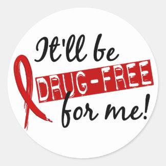 La droga libera para mí 2 pegatina redonda