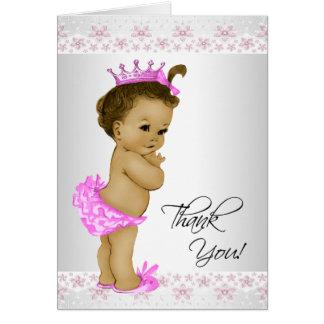 La ducha afroamericana de la niña le agradece las felicitación