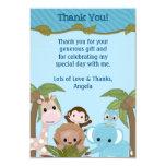 La ducha de bebés dulce de la selva le agradece invitacion personalizada
