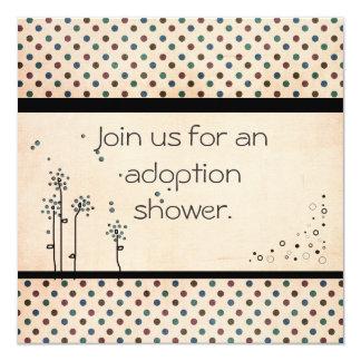 """La ducha de la adopción invita invitación 5.25"""" x 5.25"""""""