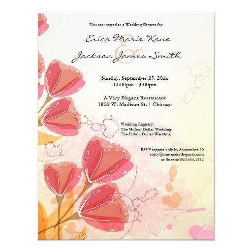 La ducha del boda del tulipán del melocotón de la  anuncio