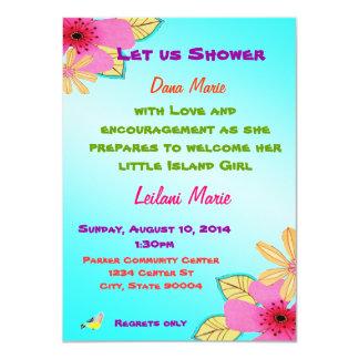 La ducha del chica de la isla invita anuncio personalizado
