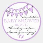 La ducha del Empavesado-Bebé le agradece Etiqueta Redonda
