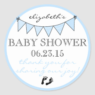 La ducha del Empavesado-Bebé le agradece Pegatinas Redondas
