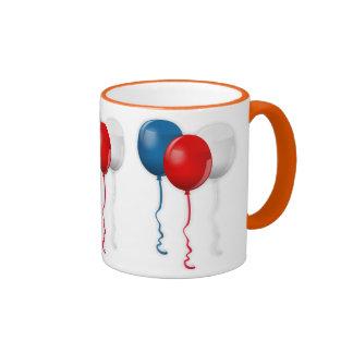 La ducha del fiesta de los globos personaliza taza de dos colores