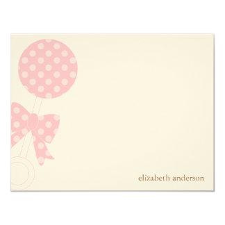 La ducha del traqueteo del bebé le agradece invitación 10,8 x 13,9 cm