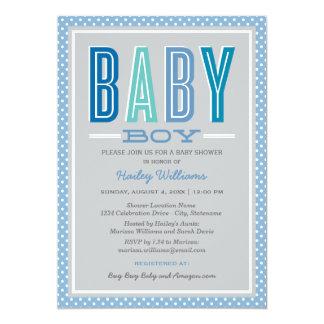 La ducha el | del bebé elegante mecanografía invitación 12,7 x 17,8 cm