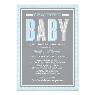 La ducha el | del bebé elegante mecanografía anuncio personalizado