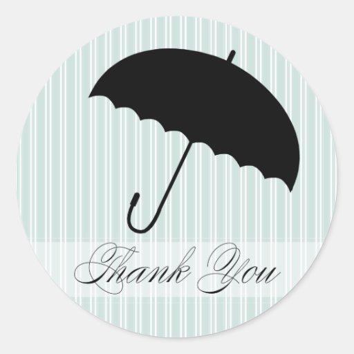 La ducha le agradece pegatina azul del paraguas