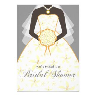 """La ducha nupcial de encargo del vestido de boda invitación 5"""" x 7"""""""