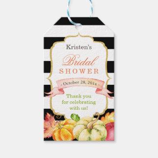 La ducha nupcial de la caída del otoño de la etiquetas para regalos