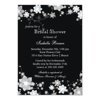 La ducha nupcial de la chispa del invierno de las invitaciones personales