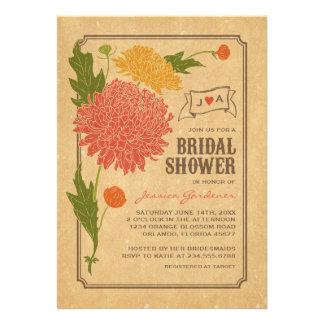 La ducha nupcial de la fiesta de jardín floral del