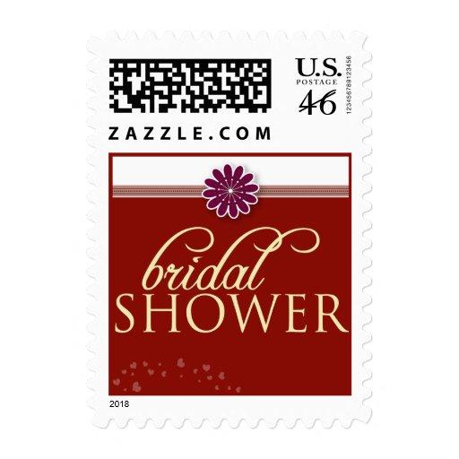 La ducha nupcial de la flor simple invita al sello