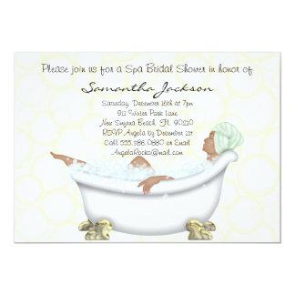 La ducha nupcial de la novia del balneario invita invitación 12,7 x 17,8 cm