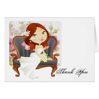 La ducha nupcial de la novia linda del dibujo anim tarjeta