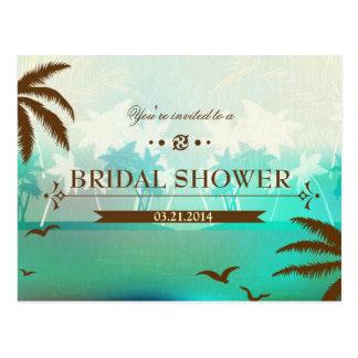 La ducha nupcial de la playa tropical de la turque postal