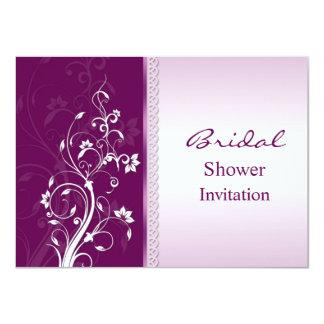 La ducha nupcial de los remolinos florales invitación 11,4 x 15,8 cm
