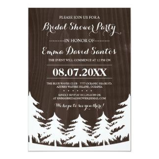 La ducha nupcial del bosque invita invitación 12,7 x 17,8 cm