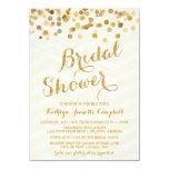 La ducha nupcial del confeti del oro que brilla invitacion personalizada