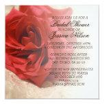 La ducha nupcial del cordón elegante de lujo del invitación 13,3 cm x 13,3cm